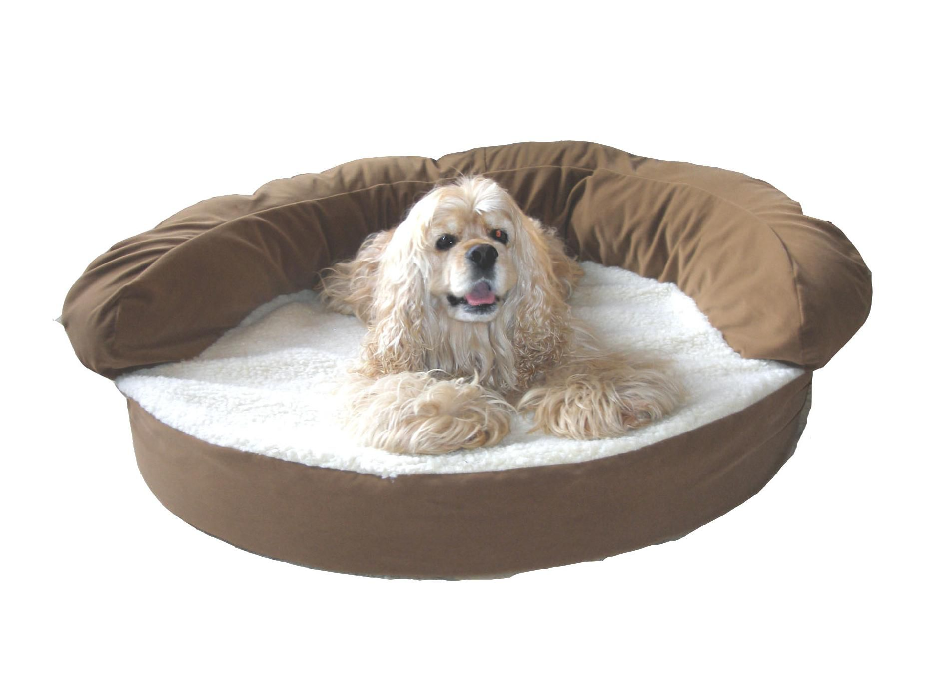 Carolina Pet Small Ortho Sleeper Bolster Bed - Chocolate