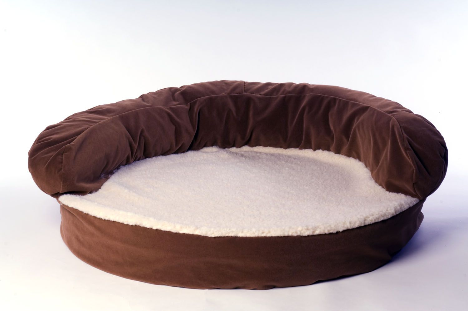 Carolina Pet Large Ortho Sleeper Bolster Bed - Chocolate