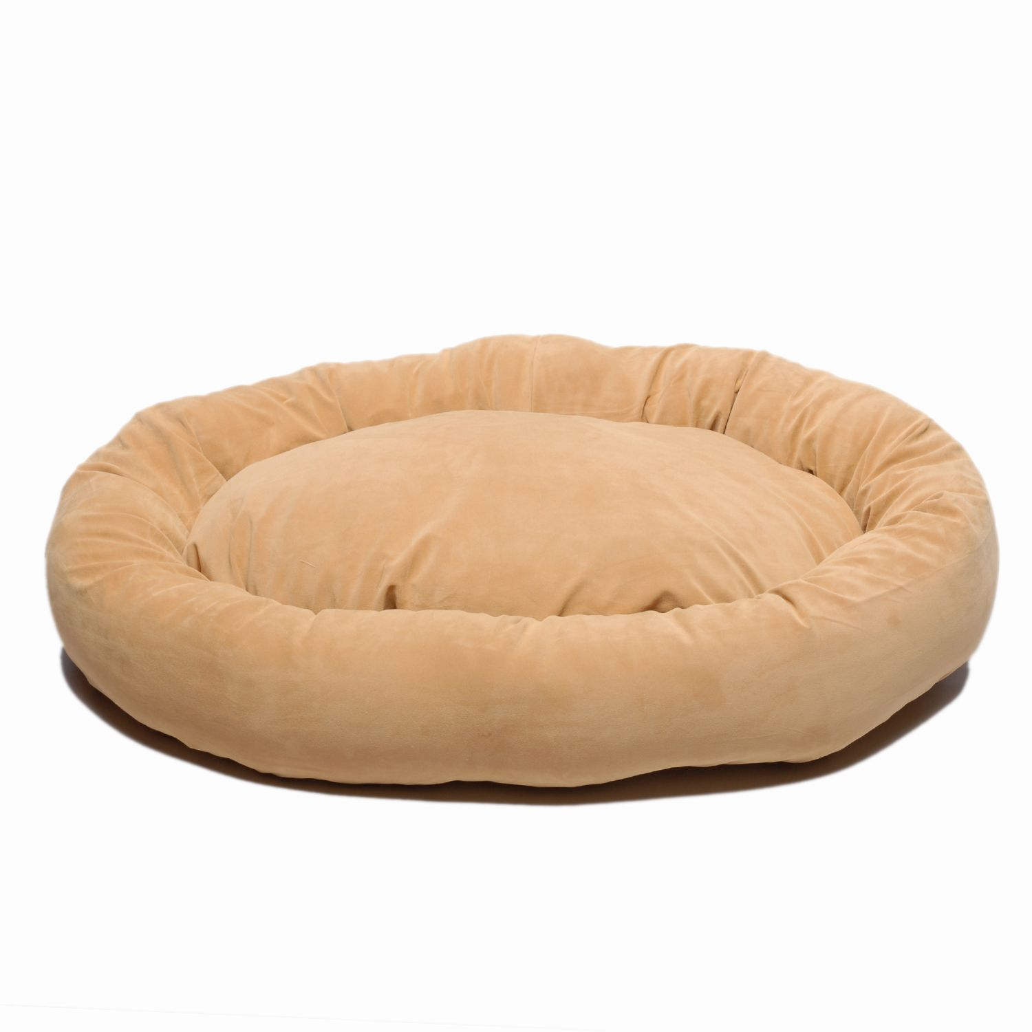Carolina Pet X-Small Microfiber Bagel Bed - Carmel
