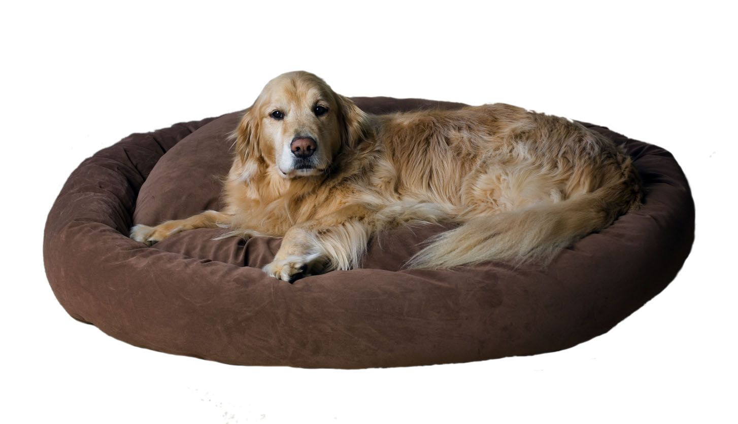 Carolina Pet Medium Microfiber Bagel Bed - Brown