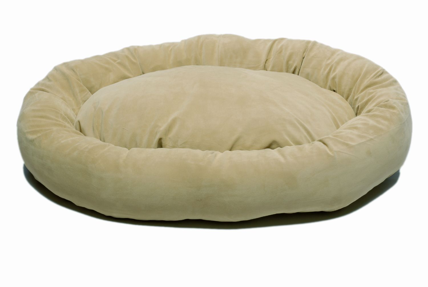 Carolina Pet Large Microfiber Bagel Bed - Sage
