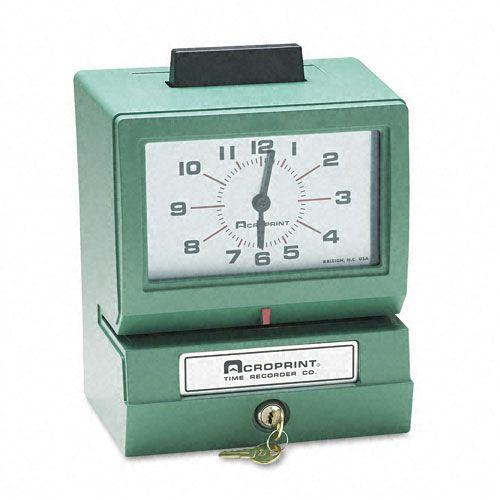Acroprint Model 125 Heavy-Duty Manual Print Time Recorder