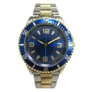 Mens Watch with Round Case, Blue Bezel and Dial and Two-Tone Expansion Band at Kmart.com