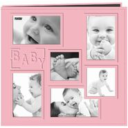 Pioneer Collage Frame 12-Inch x 12-Inch Sewn Embossed Cover Baby Postbound Album, Pink at Kmart.com