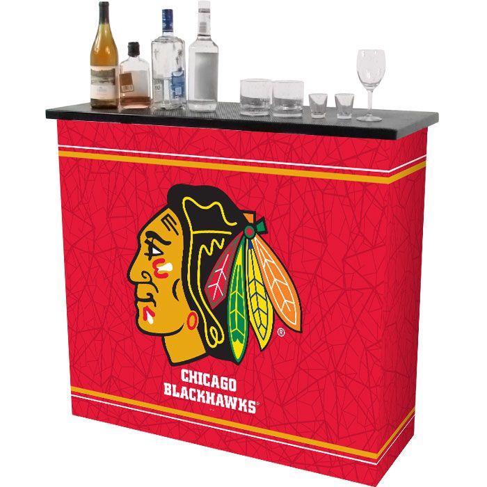 Chicago Blackhawks 2 Shelf Portable Bar w/ Case