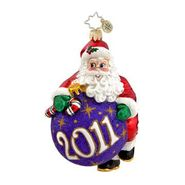 Christopher Radko Hang On Santa! Christmas Ornament at Sears.com