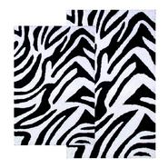 "Chesapeake Merchandising 2 Piece Zebra Bath Rug Set - 21""x34"" & 24""x40"" - Black & White color at Kmart.com"