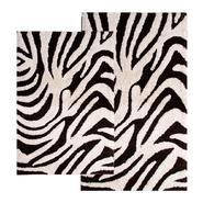 "Chesapeake Merchandising 2 Piece Zebra Bath Rug Set - 21""x34"" & 24""x40"" - Chocolate & Ivory color at Kmart.com"