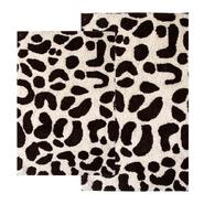 "Chesapeake Merchandising 2 Piece Leopard Bath Rug Set - 21""x34"" & 24""x40"" - Chocolate & Ivory color at Kmart.com"