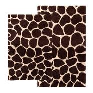 "Chesapeake Merchandising 2 Piece Giraffe Bath Rug Set - 21""x34"" & 24""x40"" - Chocolate & Beige color at Kmart.com"