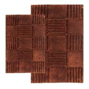 "Chesapeake Merchandising 2 Piece Checkerboard Bath Rug Set - 21""x34"" & 24""x40"", Chocolate at Kmart.com"