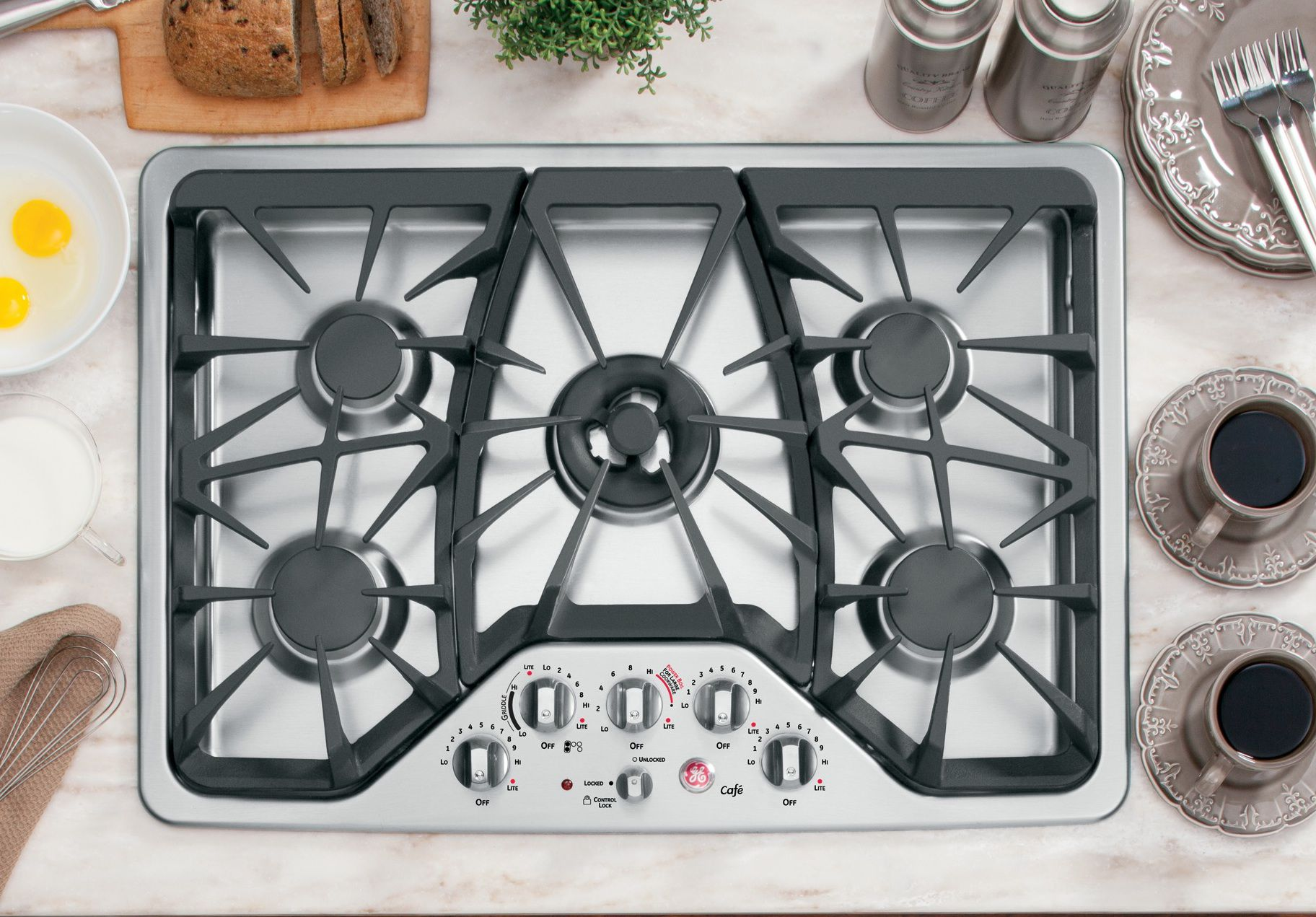 GE  30'' Gas Cooktop - Stainless Steel
