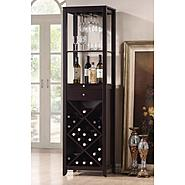 Baxton Austin Brown Wood Modern Wine Tower at Kmart.com
