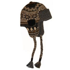 MUK LUKS® Traditional Nordic Knit Button Top Trapper Hat with Sherpa Lining - Neutral at Kmart.com