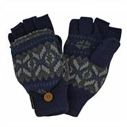 MUK LUKS® Sweater Vest Flip Glove with Sherpa Lining - Navy/Grey at Kmart.com