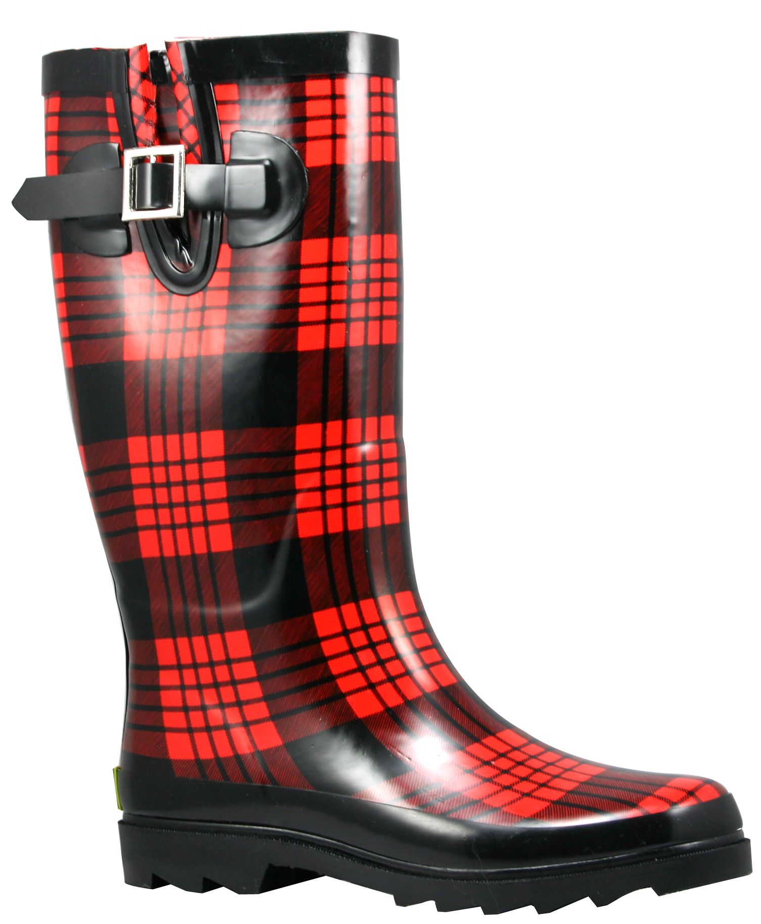 Women's Jack Plaid Rain Boot - Red