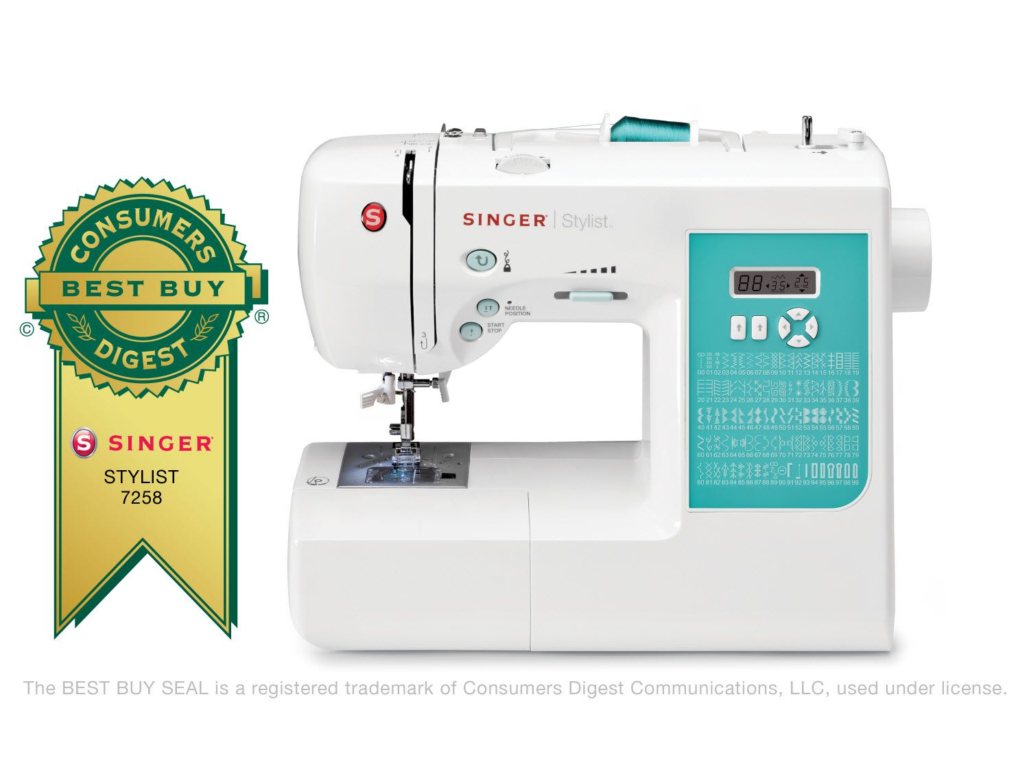 Electronic 100-Stitch Stylist Sewing Machine