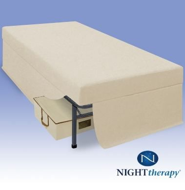 Night Therapy 6 Inch Youth Memory Foam Complete Full Mattress Set Tan