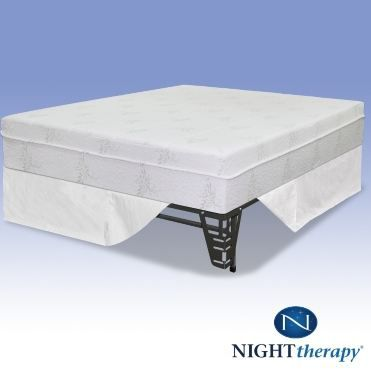 Night Therapy 10 Inch Eco Memory Foam Mattress Complete Set Full