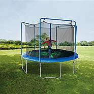 Sportspower 12ft Trampoline with 3-Arch Enclosure and Flash Light Zone at Kmart.com