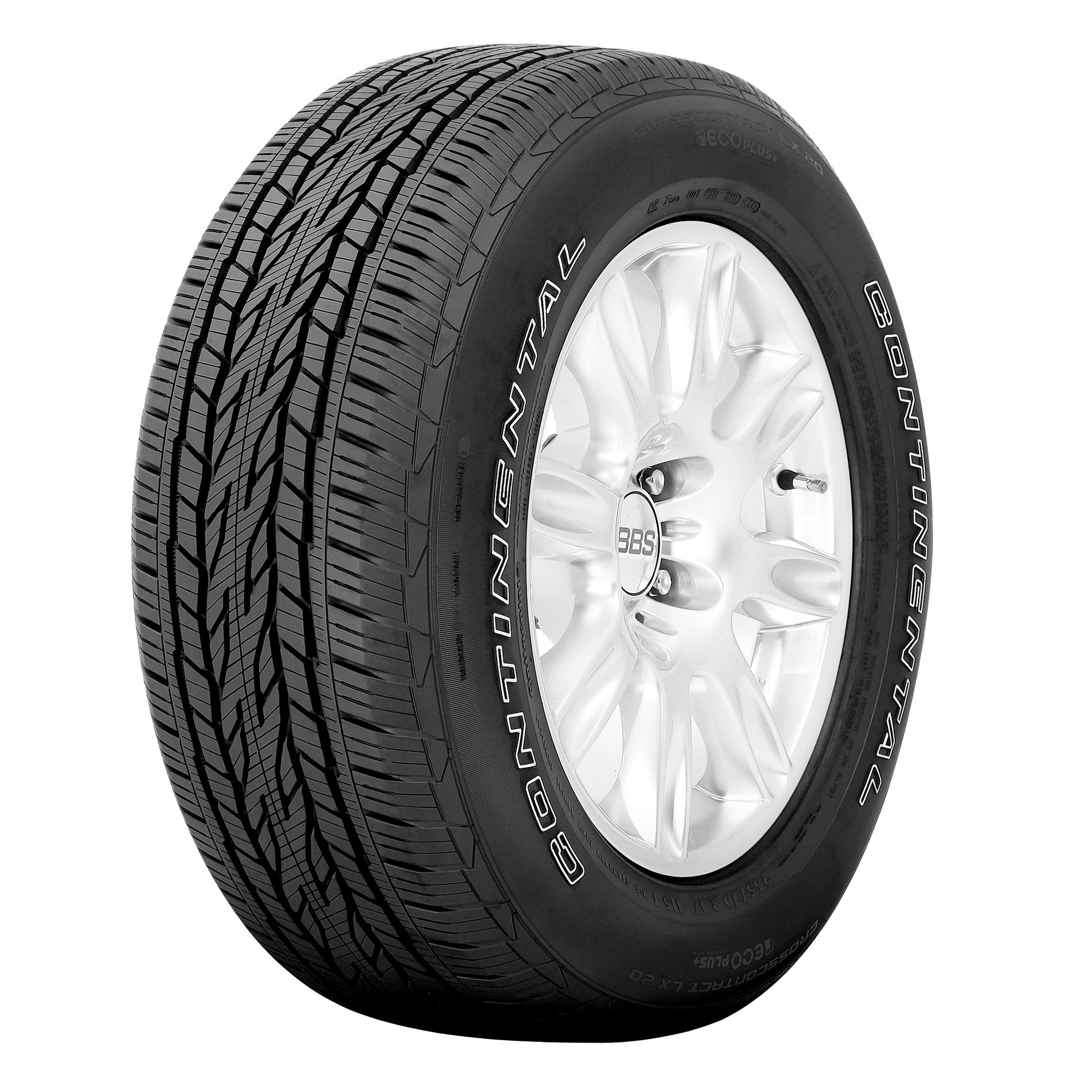 Continental CrossContact LX20 Ecoplus - 265/70R17 115T BW - All Season Tire 265-70-17