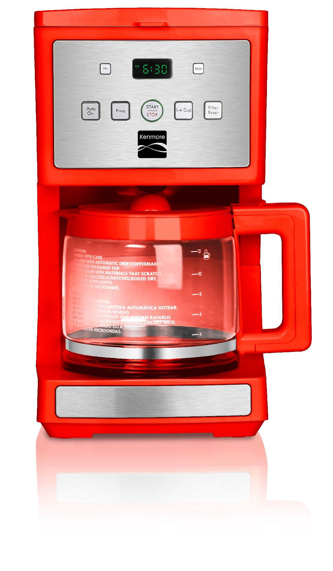 Kenmore  12-Cup Programmable Coffee Maker, Red
