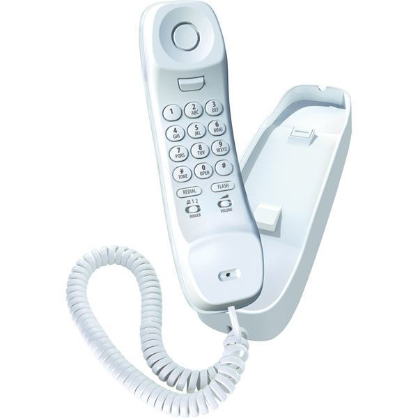 Uniden Slimline Corded Phone - White
