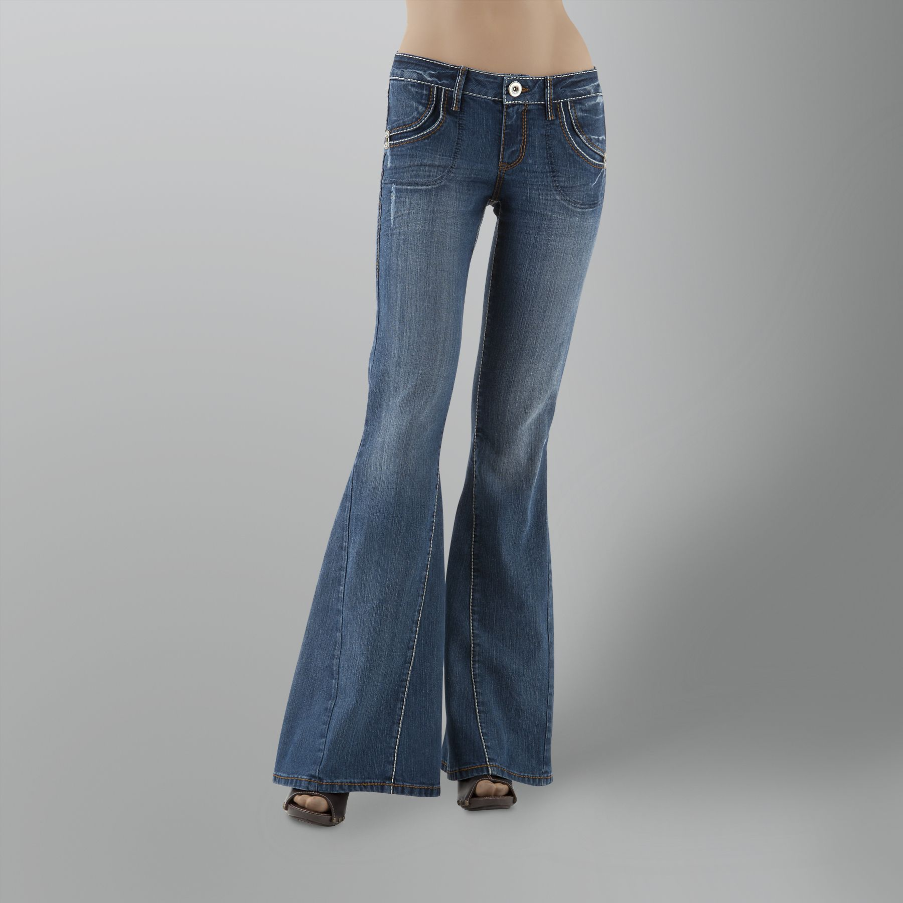 Fragile Junior's Thick-Stitched Bell Bottom Jean at Sears.com