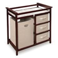 Badger Basket Cherry Modern Changing Table with 3 Baskets and Hamper at Kmart.com