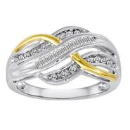 Love, me™ 1/4 Cttw. Baguette & Round 14k Yellow Gold Over Sterling Silver Diamond Ring at Sears.com
