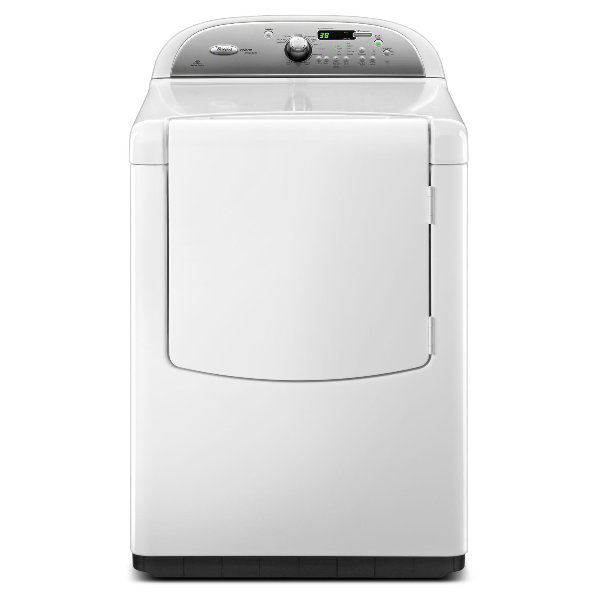 7.6 cu. ft. Electric Dryer, White