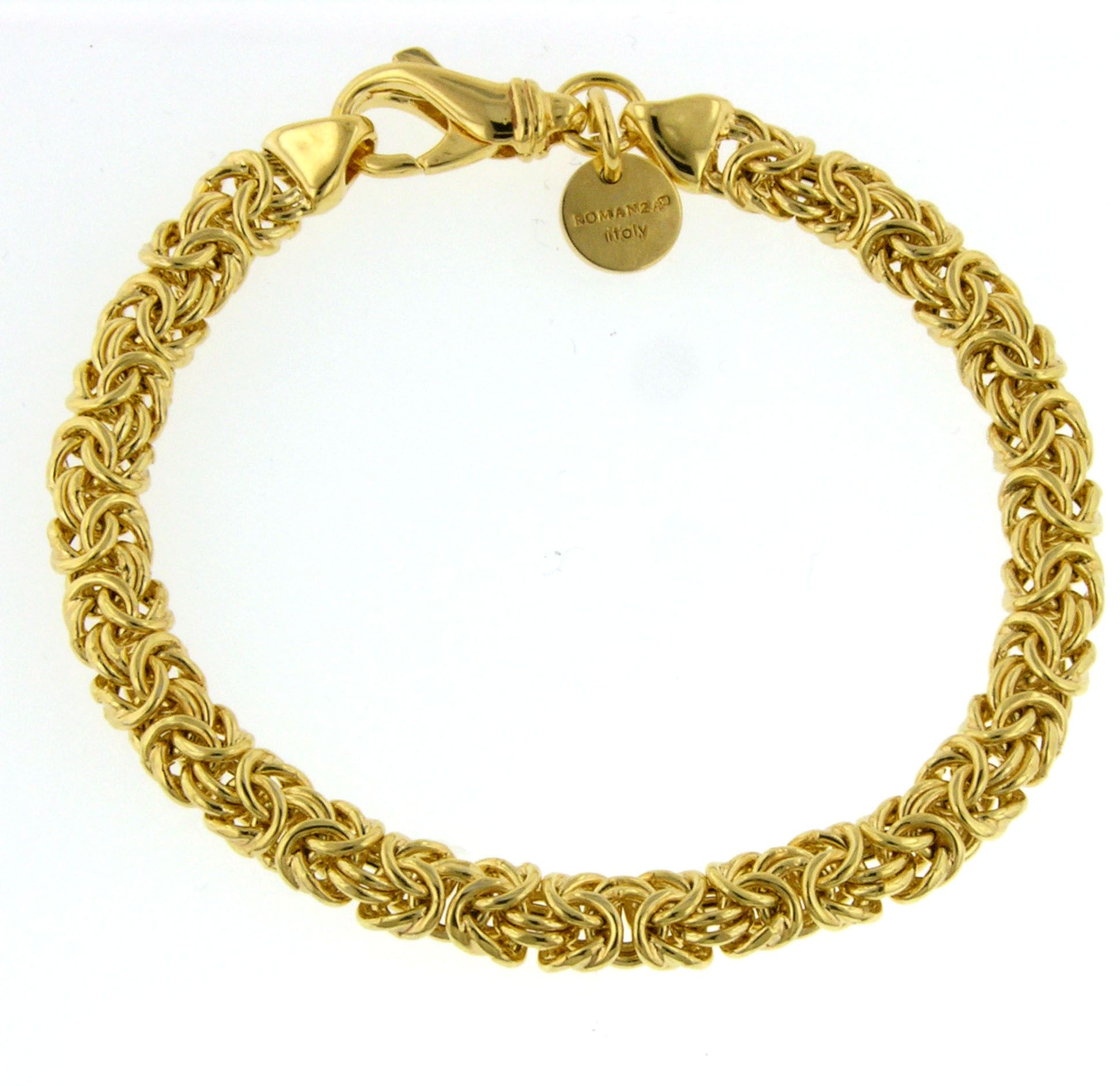 Byzantine Bracelet set in Gold over Bronze