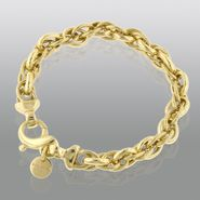 Polished/Satin Mesh Link Bracelet set in Gold over Bronze at Kmart.com