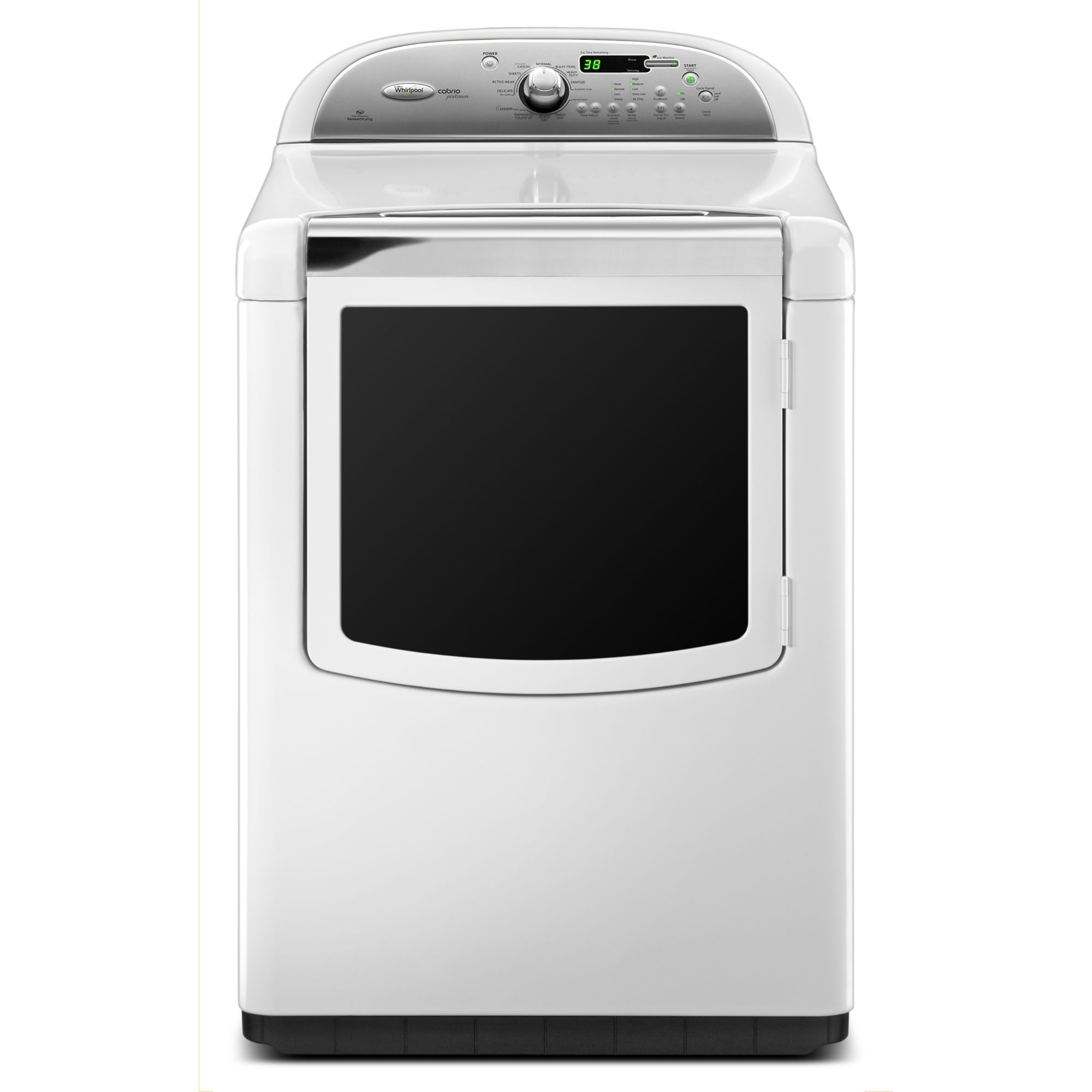 7.6 cu. ft. Electric Dryer w/ Steam Cycle - White