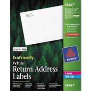 Avery Eco-friendly Labels, 1/2 x 1 3/4, White, 8000/Pack at Kmart.com
