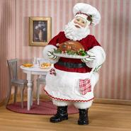 "10"" Chef Santa with Plate of Turkey at Kmart.com"