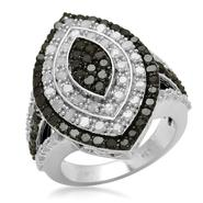 2 cttw Sterling Silver Black & White Diamond Ring at Kmart.com