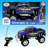 Just Kidz 1:16 RC BIG WHEEL TRUCKS - Blue Silverado at mygofer.com