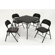Cosco 5 Piece Set with Vinyl Table Top and Fabric Chairs at Kmart.com