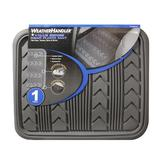 WeatherHandler 1Pc Rear Rubber Floor Mat All Weather Grey at mygofer.com