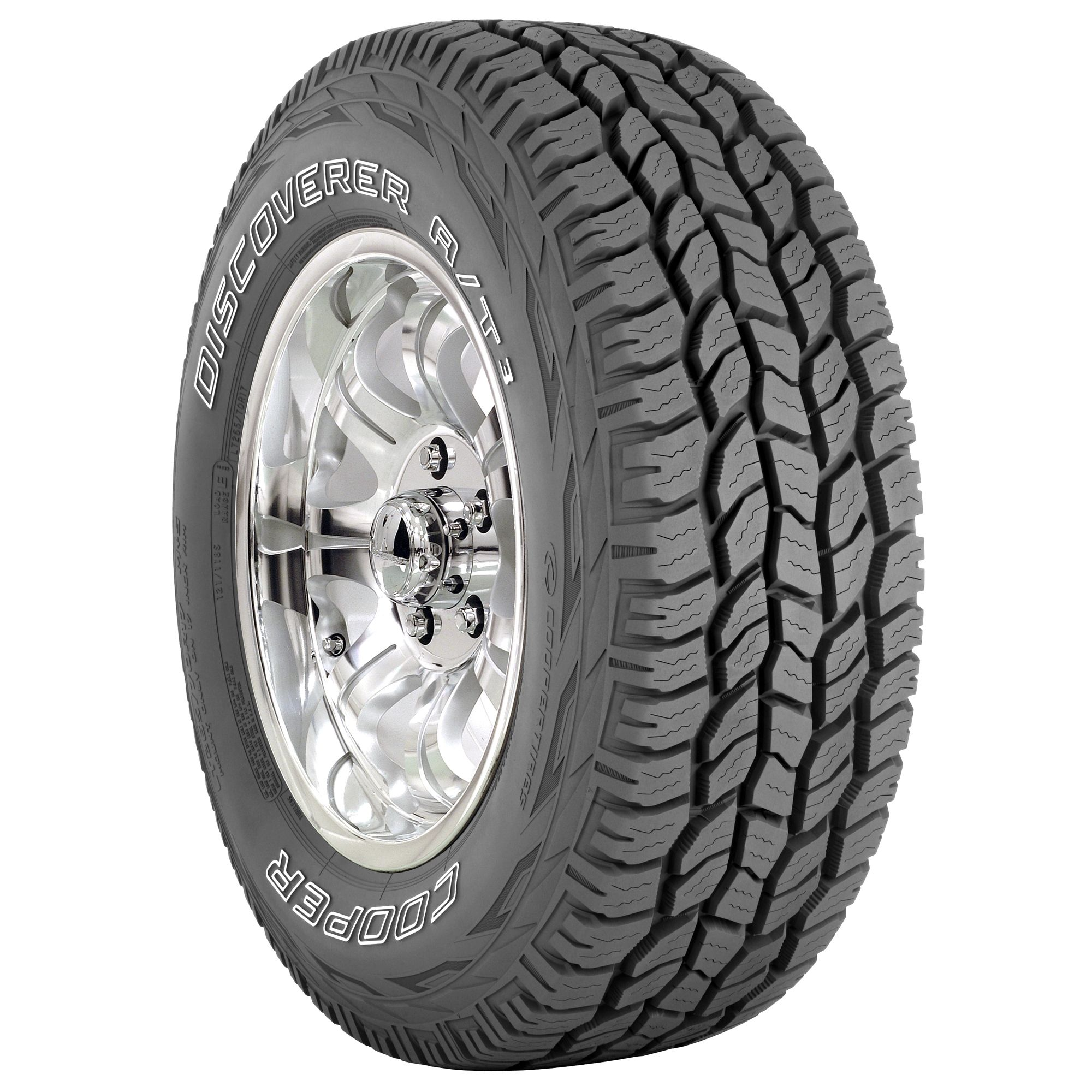 Cooper Discoverer A/T3 - LT265/70R17E 121/118S OWL - All Season Tire 265-70-17