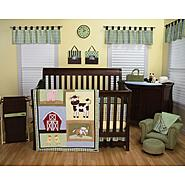 Baby Barnyard 4pc Crib Set & Mobile Bundle at Sears.com