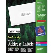 Avery Eco-friendly Labels, 1 x 2 5/8, White, 7500/Pack at Kmart.com