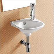 Elanti Porcelain Wall-Mounted Oval 11 x 12 Inch Compact Sink at Sears.com
