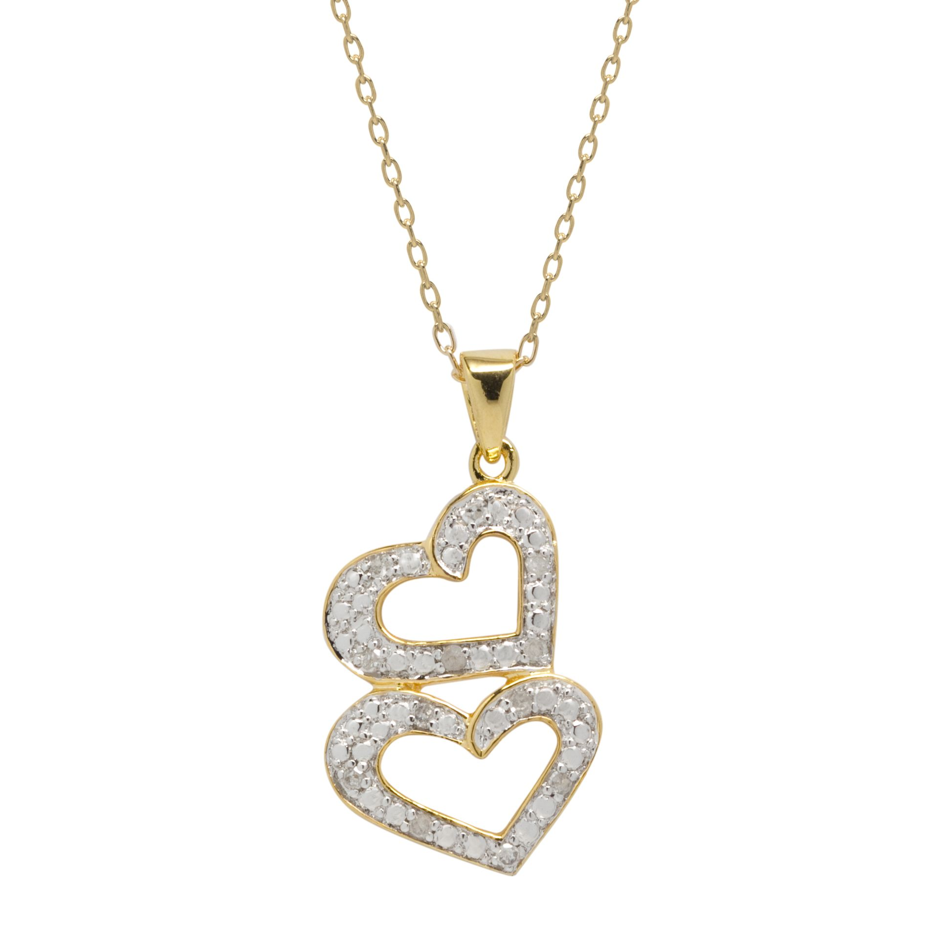 1/10cttw Diamond Heart Pendant 18k
