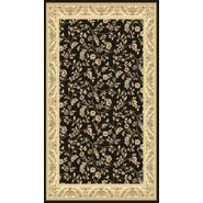 World Rug Gallery ELITE  Black/Floral 4'x6' Rug at Kmart.com