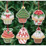 JANLYNN Christmas Cupcake Ornaments Counted Cross Stitch Kit at Sears.com