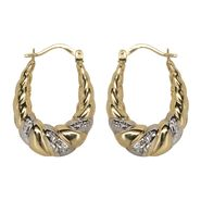 10K Two Tone Gold Swirl Hoop Earrings at Kmart.com