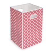 Badger Basket Folding Hamper/Storage Bin - Pink with White Polka Dots at Kmart.com