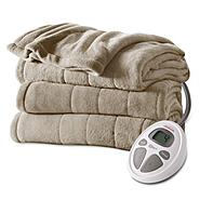 Sunbeam Full Channeled Microplush Heated Blanket at Sears.com